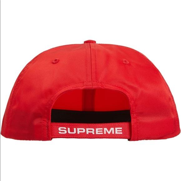 Supreme strap logo 6 panel hat Fw18. NWT. Supreme.  65  48. Size b306a57a97a9